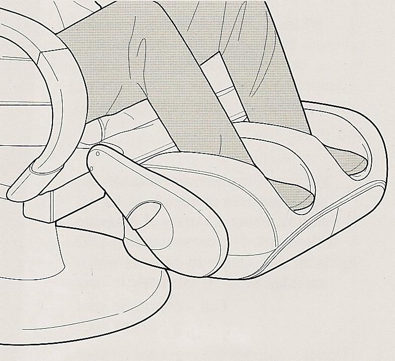Массаж стоп в массажном кресле HT-270