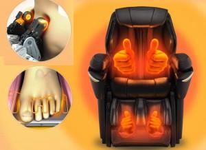 кресло массажное panasonic ep-ma73 с функцией подогрева массажных роликов и стоп