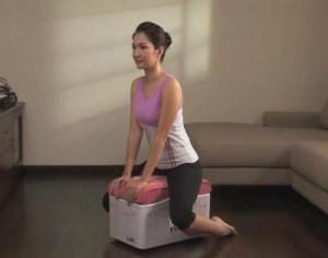 массажер-тренажер e-fit7 упражнение для рук, талии, бедер
