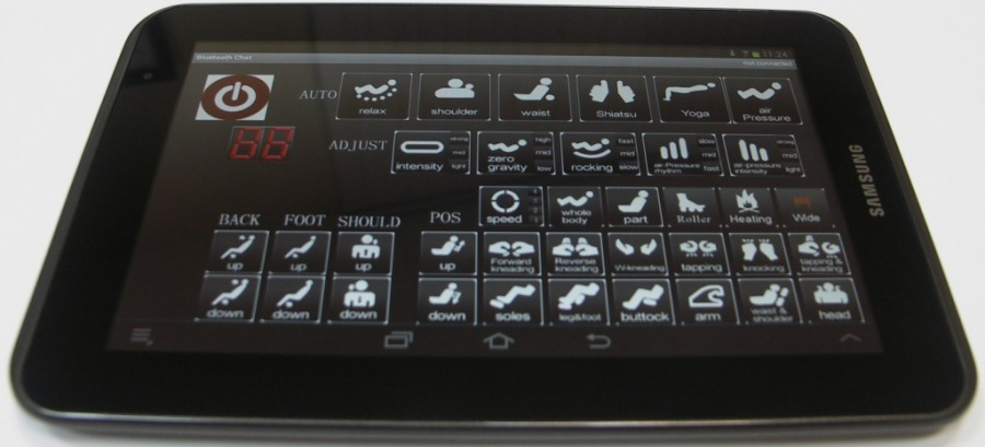 управление массажным креслом profimed 3g new через планшет
