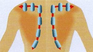 массаж лопаток в массажном кресле profimed galaxy эллотен