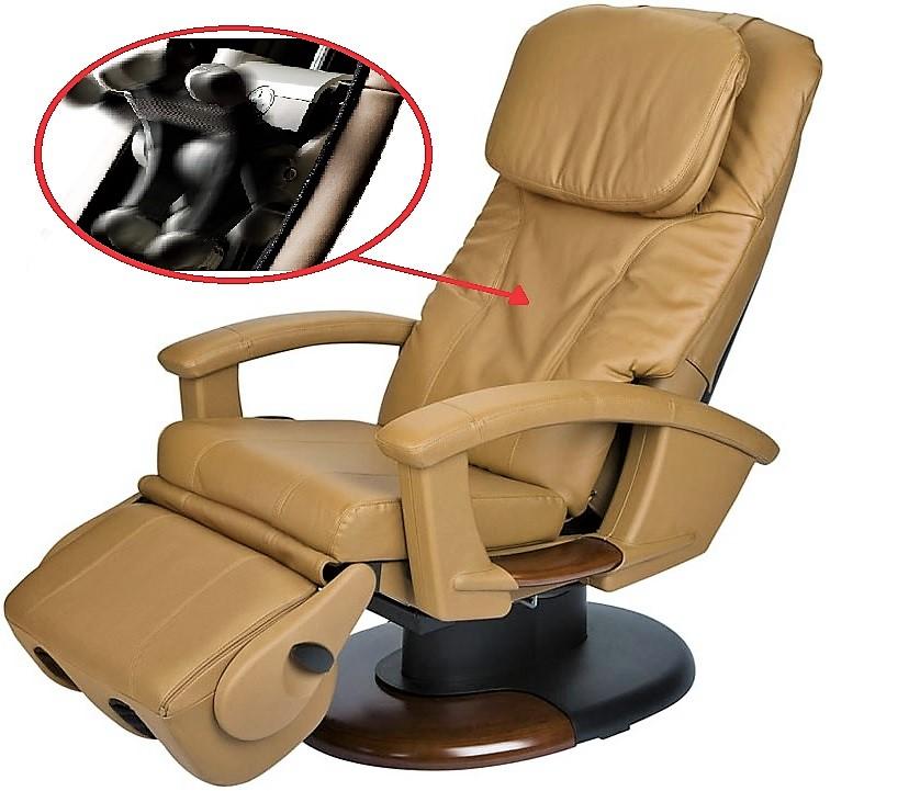 массажное кресло ht 135 компании human touch США  с запатентованным роликовым механизмом и поворотной подставкой для ног м
